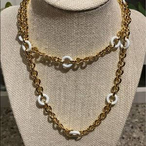 """Linked Metal Necklace 32""""  NWT"""
